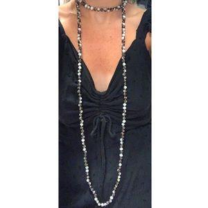 Jewelry - Crystal Beaded Choker - Wrap Necklace
